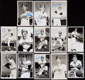 Autographs:Post Cards, 1972 Cleveland Indians Signed Postcard Lot of 13.. ...
