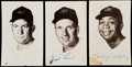 Autographs:Post Cards, 1955 Cleveland Indians Signed Hall of Fame Postcard Lot of 3.. ...