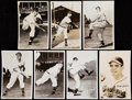 Autographs:Post Cards, 1940s Cleveland Indians Signed Postcard Lot of 7. ...