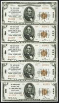 National Bank Notes:Pennsylvania, Harrisburg, PA - $5 1929 Ty. 2 The Harrisburg NB Ch. # 580 FiveExamples. ... (Total: 5 notes)