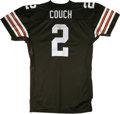 Football Collectibles:Others, 1999 Tim Couch Signed Browns Jersey. Beautiful Cleveland Browns replica has been designed to model the on-field Puma jersey...
