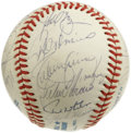Autographs:Baseballs, 1991 AL All-Star Team Signed Baseball. Wonderful collection ofAmerican League All-Star signatures appear here courtesy of ...