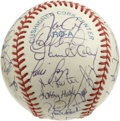 Autographs:Baseballs, 1993 Toronto Blue Jays World Champion Team Signed Baseball. Winningtheir second consecutive World Series in 1993, the Toro...