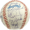 Autographs:Baseballs, 1993 Philadelphia Phillies Team Signed Baseball. After nearly adecade of playing sub-.500 baseball, the Philadelphia Phill...