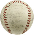 Autographs:Baseballs, 1963 Cleveland Indians Team Signed Baseball. The 1963 ClevelandIndians were skippered by Birdie Tebbetts, whose signature ...