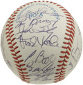 Autographs:Baseballs, 1991 NL All-Star Team Signed Baseball. Thirty-one signatures havebeen collected on the offered clean official baseball. I...