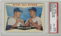Baseball Cards:Singles (1960-1969), 1960 Topps Rival All Stars Mantle & Boyer #160 PSA NM-MT 8.This card from the 1960 Topps issue puts a beloved slugger from...