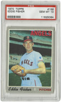 Baseball Cards:Singles (1970-Now), 1970 Topps Eddie Fisher #156 PSA Gem Mint 10. A perfect example ofthe gray-bordered cards from the 1970 Topps issue is ava...