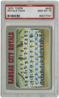 Baseball Cards:Singles (1970-Now), 1970 Topps Royals Team #422 PSA Gem Mint 10. This Gem Mint examplefrom the 1970 Topps set features an exceptional team sho...