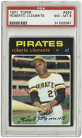 Baseball Cards:Singles (1970-Now), 1971 Topps Roberto Clemente #630 PSA NM-MT 8. Hall of Fame greatRoberto Clemente is the subject of this high-grade example...