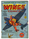 Golden Age (1938-1955):War, Wings Comics #3 (Fiction House, 1940) Condition: VG/FN....