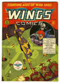 Golden Age (1938-1955):War, Wings Comics #2 (Fiction House, 1940) Condition: VG+....
