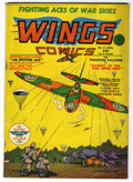 Golden Age (1938-1955):War, Wings Comics #4 (Fiction House, 1940) Condition: FN-....