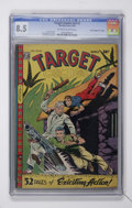 "Golden Age (1938-1955):Miscellaneous, Target Comics V9#1 Davis Crippen (""D"" Copy) pedigree (Novelty Press, 1948) CGC VF+ 8.5 Off-white to white pages...."