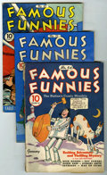 Golden Age (1938-1955):Miscellaneous, Famous Funnies Group (Eastern Color, 1939-41).... (Total: 3)