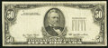 Error Notes:Missing Third Printing, Missing Third Printing Error Fr. 2119-? $50 1977 Federal Reserve Note. Very Fine-Extremely Fine.. ...