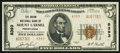 National Bank Notes:Pennsylvania, Mount Carmel, PA - $5 1929 Ty. 2 The Union NB Ch. # 8393. ...
