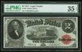 Large Size:Legal Tender Notes, Fr. 58 $2 1917 Legal Tender PMG Choice Very Fine 35 EPQ.