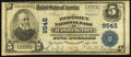 National Bank Notes:District of Columbia, Washington, DC - $5 1902 Plain Back Fr. 600 The District NB Ch. # 9545. ...