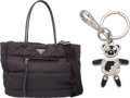 "Luxury Accessories:Bags, Prada Set of Two; Prada Black Nylon Tote Bag & Prada Bear RobotKeychain. Condition: 3. 13.5"" Width x 11"" Height x 6"" Dept...(Total: 2 Items)"