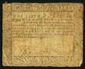 Colonial Notes, Maryland August 14, 1776 $1/6 Very Good.. ...