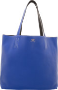 Luxury Accessories:Bags, Hermes Blue Electric & Graphite Clemence Leather Double Se...