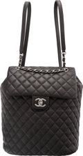 "Luxury Accessories:Bags, Chanel Black Lambskin Leather Classic Quilted Urban Spirit Backpackwith Ruthenium Hardware. Condition: 3. 9.5"" Width x 11..."