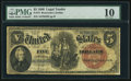 Large Size:Legal Tender Notes, Fr. 74 $5 1880 Legal Tender PMG Very Good 10.. ...