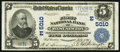 National Bank Notes:Pennsylvania, West Newton, PA - $5 1902 Plain Back Fr. 606 The First NB Ch. # (E)5010. ...