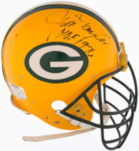 c. 1980s Green Bay Packers Game Used Helmet Signed by Ray Nitschke, Jim Taylor, and Willie Wood