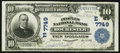 National Bank Notes:Pennsylvania, Rochester, PA - $10 1902 Plain Back Fr. 624 The Peoples NB Ch. # (E)7749. ...