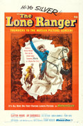 """Movie Posters:Western, The Lone Ranger (Warner Brothers, 1956). One Sheet (27"""" X 41"""").. ..."""