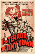 "Movie Posters:Western, The Terror of Tiny Town (Columbia/Astor, 1937/R-1940). One Sheet (27"" X 41""), Title Card, & Lobby Cards (2) (11"" X 14"").. ... (Total: 4 Items)"