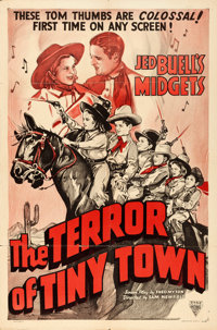 "The Terror of Tiny Town (Columbia/Astor, 1937/R-1940). One Sheet (27"" X 41""), Title Card, & Lobby Card..."