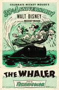 """Movie Posters:Animation, Mickey Mouse in The Whalers (RKO, R-1953). 25th Anniversary One Sheet (27"""" X 41"""").. ..."""