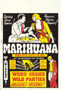 "Movie Posters:Exploitation, Marihuana (Roadshow Attractions, 1936). One Sheet (28"" X 41"").. ..."