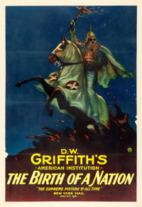 """The Birth of a Nation (Epoch Producing Corp., R-1921). One Sheet (28"""" X 41"""")"""