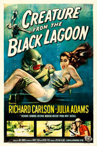 "Creature from the Black Lagoon (Universal International, 1954). One Sheet (27"" X 41"") Albert Kallis Artwork..."