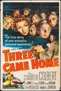 "Movie Posters:War, Three Came Home & Other Lot (20th Century Fox, 1949). OneSheets (27"" X 41"") & British One Sheet (27"" X 40""). War.. ...(Total: 2 Items)"