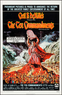 "The Ten Commandments (Paramount, R-1972). One Sheet (27"" X 41""). Drama"