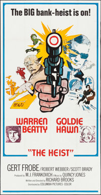 """$ (Dollars) & Other Lot (Columbia, 1971). Three Sheets (2) (41"""" X 79""""). Crime. UK Title: The Heist. ... (T..."""