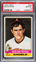 Baseball Cards:Singles (1970-Now), 1976 Topps Nolan Ryan #330 PSA Gem Mint 10. You wo...