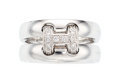 Estate Jewelry:Rings, Diamond, White Gold Ring, Hermès, French. ...