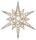 Estate Jewelry:Brooches - Pins, Diamond, Silver-Topped Gold Brooch. ...