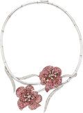 Estate Jewelry:Necklaces, Pink Tourmaline, Diamond, Gold, Silver Necklace. ...