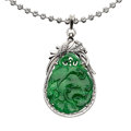 Estate Jewelry:Pendants and Lockets, Jadeite Jade, White Gold Pendant-Necklace. ...