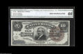 Large Size:Silver Certificates, Fr. 296 $10 1886 Silver Certificate CGA Gem Uncirculated 66.Broadly margined and beautifully bright, this is one of fewer t...