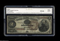Large Size:Treasury Notes, Fr. 353 $2 1890 Treasury Note CGC Fine 15. The surfaces appear natural on this scarce Treasury Deuce....