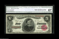 Large Size:Treasury Notes, Fr. 361 $5 1890 Treasury Note CGA Gem Uncirculated 67. A totally gorgeous Treasury Five, with broad margins, perfect colors ...