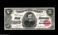 Large Size:Treasury Notes, Fr. 362 $5 1891 Treasury Note Gem New. Single-digit serial number Treasury Notes are seldom encountered, and this gorgeous B...